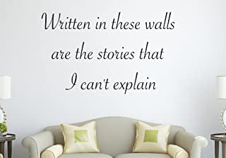 One Direction 1D The Story of My Life Lyrics Written in These Walls. Wall Decal Quote Sticker Art Decor Vinyl
