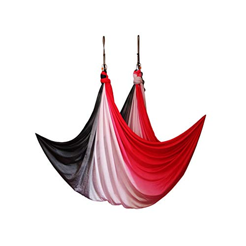 For Sale! Sky Happying Gradation Color Nylon Aerial Yoga Swing Hammock Flying Yoga Belt Anti Gravity...