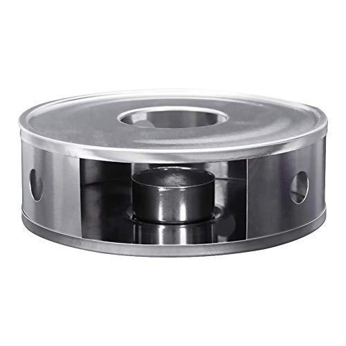 SNIIA stoofje theeverwarmer koffieverwarmer van roestvrij staal met theelichthouder theelicht en theepot zijn niet inbegrepen