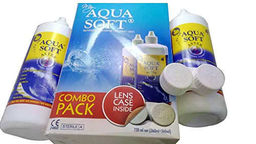 Aquasoft Multipurpose Solution for Soft Contact Lenses 360+360 Combo Pack