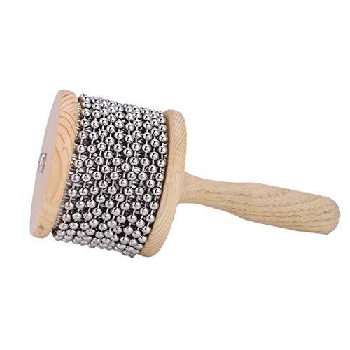 Coctelera de mano Pop, madera Cabasa, madera duradera práctica de metal liso para niños