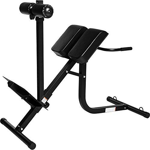 GORILLA SPORTS Rückentrainer Hyperextension verstellbar – Rückenstrecker bis 200 kg belastbar