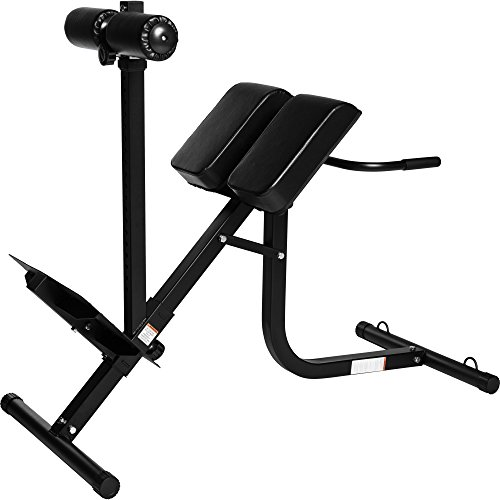 GORILLA SPORTS® Rückentrainer Hyperextension Schwarz verstellbar – Rückenstrecker bis 200 kg belastbar