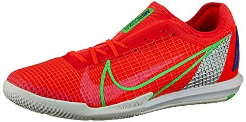 Nike Zoom Vapor 14 Pro IC, Football Shoe Hombre, Bright Crimson/Metallic Silver-Indigo Burst-White-Rage Green, 44.5 EU