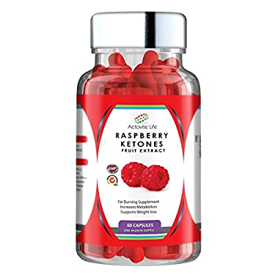 Actovite Life's Raspberry Ketones - Supercharged Metabolic Booster - Ultra High Strength Weightloss Diet supplement - Powerful Premium Fat Burner - Natural - Curbs Hunger Pains - Hair Growth - Increases Energy Levels - Improved General Well Being - Supple