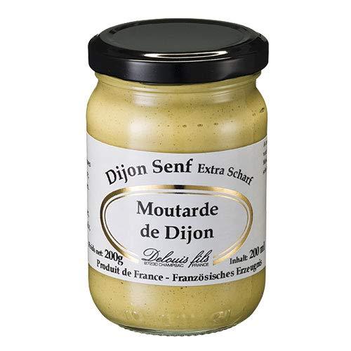 Delouis Fils - Dijon-Senf klassisch (Moutarde de Dijon) extra scharf aus Frankreich - 200 g