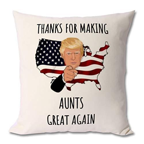 Funda de almohada de 45,7 x 45,7 cm, funda de cojín para tía, regalo de tía, tía, tía, humor, tía, tía, idea de regalo, tía, tía, regalo para tía, regalo para tía, regalo para tía, regalo para tía.