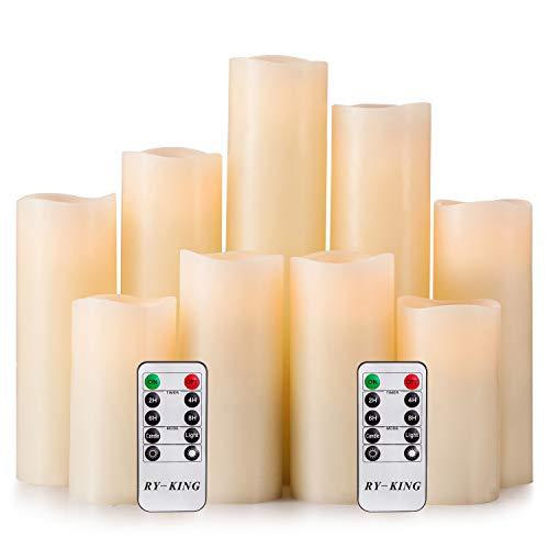 RY King Set of 9 Flameless Candles with Remote Control & Timer - $19.99 / Set