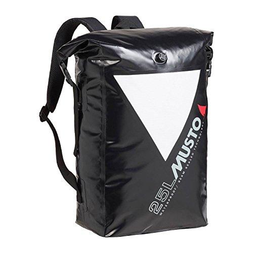 Musto Dry Rucksackbeutel 40L 40 Liter Inhalt SCHWARZ - Wasserdicht Spritzwassergeschützt - Unisex