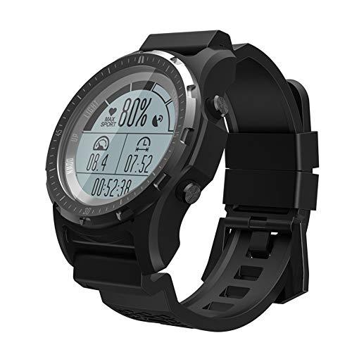 MROSW S966 Smart Watch Mannen Fitness Tracker Horloge Hartslagmeter Sport Klok Smartwatch Luchtdruk Kompas Hoogte