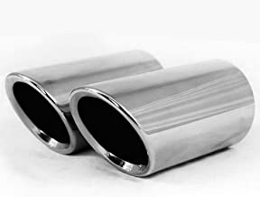 New Fashion Auto Parts Chrome Stainless Steel Exhaust Muffler Tip Pipes Fit For VW Golf 6 MK6 Variant Jetta Sportwagen 2009 2010 2011 2012 2013