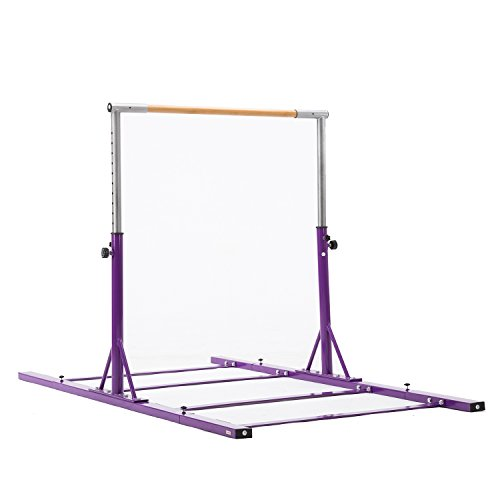 Usexport Gymnastics Expandable Junior Training Bar Adjustable 3' to 5' Horizontal Bar Purple