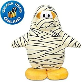 "Club Penguin All TIME Favorite - The Mummy 6.5"" Plush from Disney Special Coin Unlocks 2"" Treasure Book Items You Choose!"