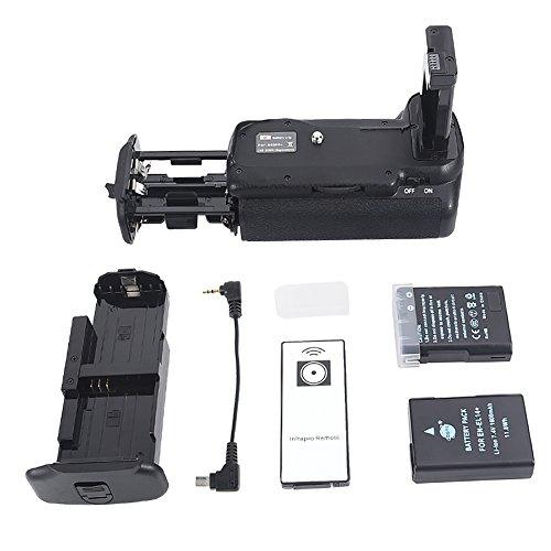 DSTE® Remoto Vertical Batería Apretón Titular Compatible con Nikon D5500 D5600 DSLR Cámara Fotográfica como MB-D5500 con 2-Pack EN-EL14