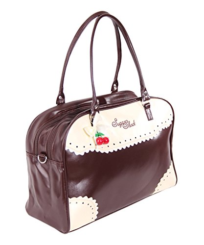SugarShock Auro Budapester Shopper Handtasche, Farbe:braun - 4