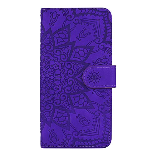 DEHF010264 - Funda de piel tipo cartera para Galaxy J5 (2016), con función atril, cierre magnético, con ranuras para tarjetas para Samsung Galaxy J5 2016, color morado