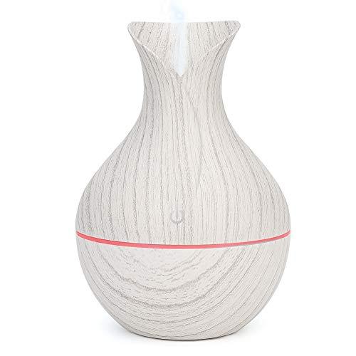 Humidificador de niebla fría de bajo ruido, 7 colores, humidificador de luz LED para el hogar, difusor de aromaterapia de 130 ml, para oficina, hogar,(white)