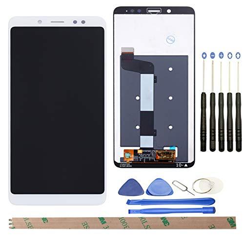 YHX-OU Pantalla táctil LCD de 5,99 pulgadas para Xiaomi Redmi Note 5, con herramientas completas (color blanco)