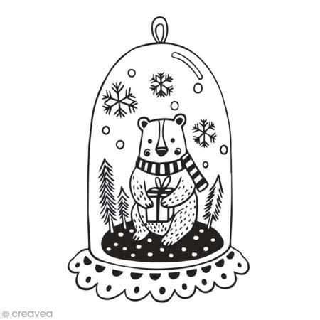 """Aladine 01744 Stempel""""D Christmas"""", Bär"""
