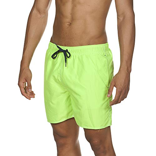 ARES5 arena Herren Badeshorts Fundamentals Solid Boxer, shiny green-Navy, XL
