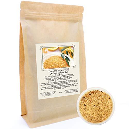 C&T Orange-Ingwer-Salz 200 g | Feinstes Kristallsalz mit Orangen und Ingwer | Hervorragend zu Fisch und exotischen Salaten | Fruchtig | Geschenkidee | Ohne Konservierungsstoffe, Farbstoffe und Aromen