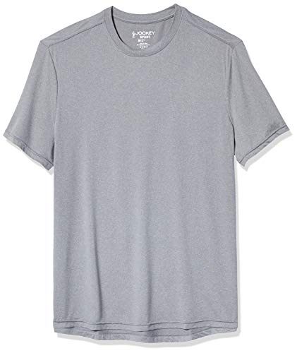 Jockey Men's Classic Short Sleeve Heathered T-Shirt, Concrete, Small