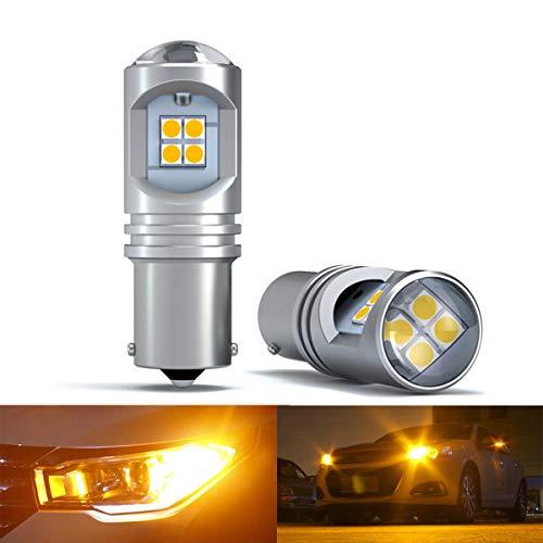 1156 Ba15s Lampadina LED Ambra 10-30V 3000K P21W 7506 1141 1003 1073 LED Canbus per luci di retromarcia di backup Luci posteriori, indicatori di direzione (2 pezzi)
