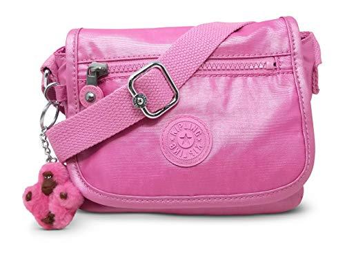 Kipling Sabian Mini Crossbody Bag, Prom Pink Metallic