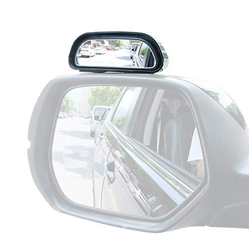 Maluokasa 1 espejo retrovisor de ángulo ciego para coche, universal, HD, ajustable, convexo, para todos los tipos de vehículos