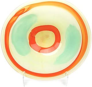 Murano Art Collection European Art Glass Figi Centerpiece Plate