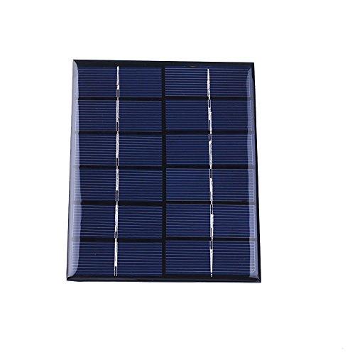 Cewaal 6V 2W 330mA Epoxy Sunpower Panel de energía solar de silicio policristalino Módulo DIY para el juguete del cargador de la célula