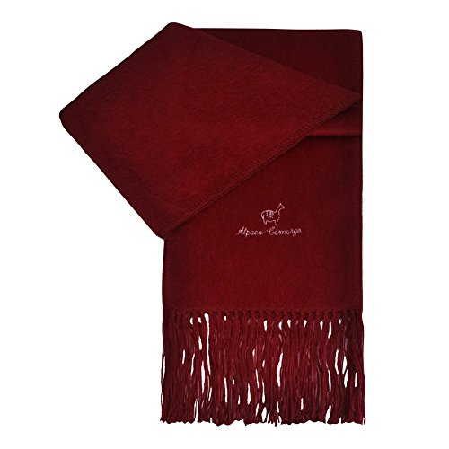 TOUTACOO, Echarpe en Alpaga - Homme & Femme - Couleur Dark Red