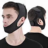 Anti Snoring Chin Strap, Stop Snore Device, Newest Chin Strap for Men Women, Adjustable and Breathable Anti Snoring Solution for Snorers of All Ages, Snoring Sleep Aid - Large