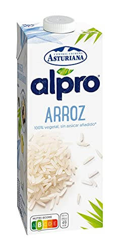 Alpro Central Lechera Asturiana - Bebida de Arroz, 100% Vegetal, Baja en Grasas, Apta para Veganos, Brik de 1 litro, 1 x 1000ml