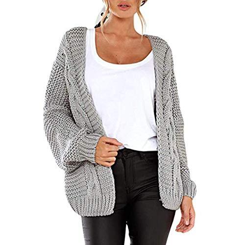 swiftt Damen Grobstrick Strickjacke Strickmantel strickcardigan Casual Open Front Sweater Cardigan Cover Up Patchwork Outwear Herbst Winter