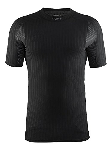Craft Men's Active Extreme 2.0 Lightweight Short Sleeve Training Tee, Black, Small