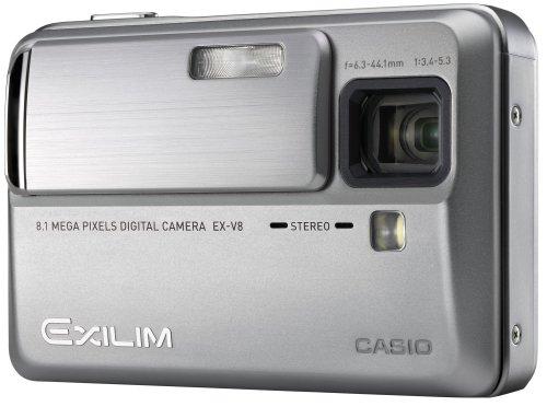 CASIO デジタルカメラ EXILIM (エクシリム) Hi-ZOOM シルバー EX-V8SR