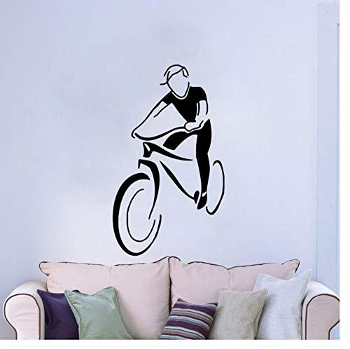 Zkpyy Mountainbike paardrijden Pvc muursticker decoratie keuken gym 30 cm * 51 cm