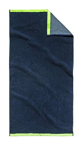 Tom Tailor Handtuch 2er-Set Oskar, 50 x 100 cm, Navy, Badezimmerhandtuch, Badezimmer, Handtuchset, Badhandtuch, Badezimmertuch