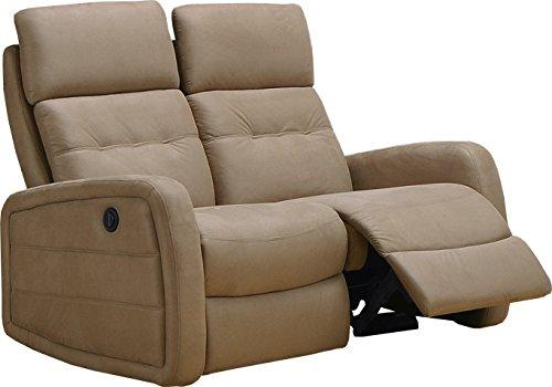 Destock Muebles Sofá Relax Eléctrico MARCO Microfibra Caramelo 2 Plazas