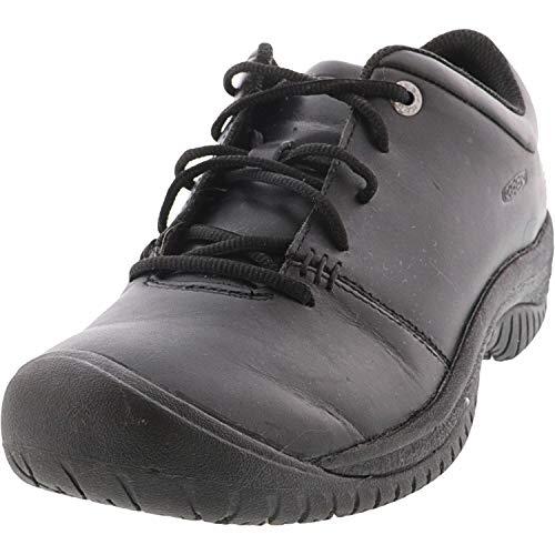 KEEN Utility Women's PTC Oxford Low Height Non Slip Chef Food Service Shoe, Black/Black, 11 Medium US