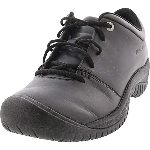KEEN Utility Women's PTC Oxford Low Height Non Slip Chef Food Service Shoe, Black/Black, 5.5 Medium US