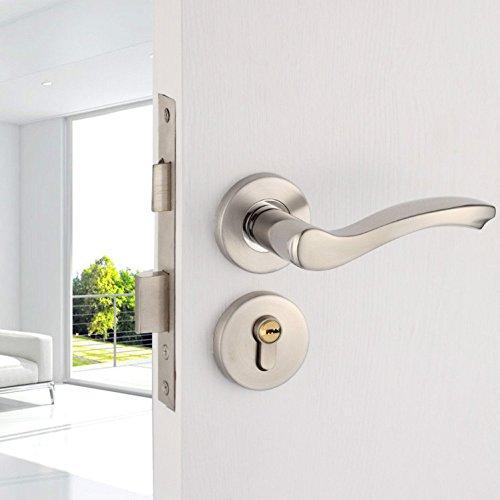 LSS Türschloss Edelstahl leise Innentürschloss Schlafzimmer Badezimmer einfacher Griff Split-Lock