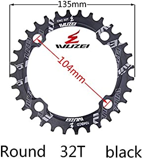 WUZEI Bike Chainrings Bicycle Chianset Rings 30T 32T 34T 36T 38T 104 BCD Crankset Mountain Bike Single Speed Narrow Wide Chainring