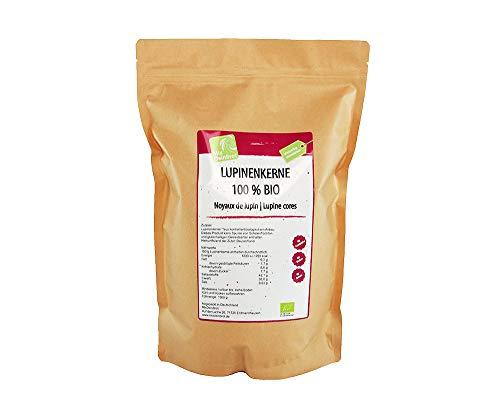 Bio-Lupinenkerne getrocknet aus Deutschland, 1500 g, Eiweißquelle für Vegetarier und Veganer, pflanzliches Protein (Grundpreis 21,99 € / kg)