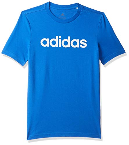 adidas Jungen T-Shirt YB E LIN Tee, Azul/Blanco, 152 (11/12 años), FM7040