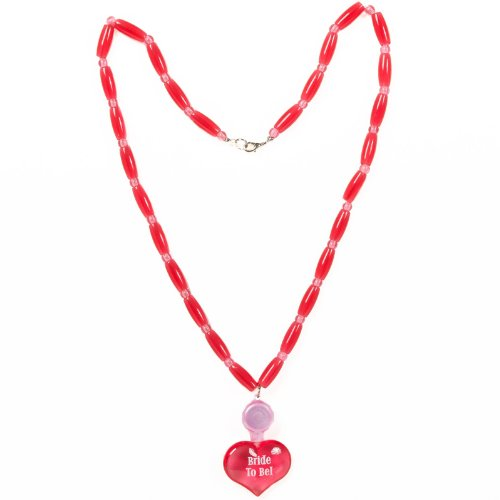 Amscan 220647 Bachelorette Bride to Be Light Up Collier avec pendentif - Red
