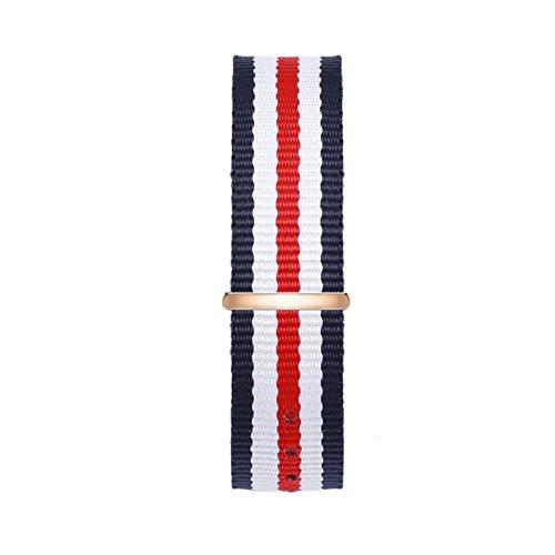 Time100 Cinturino Tricolore(Bianco, Rosa e Nero), Perfetto Sostituito, Matriale di Nylon, Resistente alla Sporcizia, Leggero e alla Moda#D80189L.01A