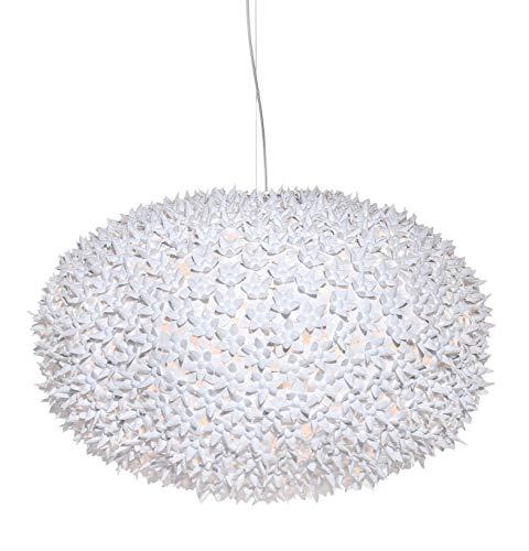 Kartell Bloom, Lampe de Suspension, Grande, Couverture Blanche