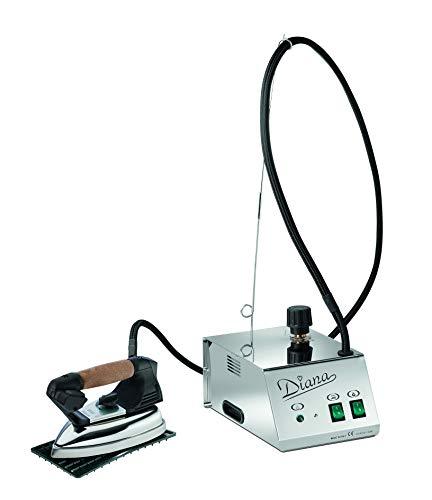 BATTISTELLA DIANA 0,8 Liter Dampferzeuger Bügelanlage Bügelstation mit Kessel aus Edelstahl und mit Bügeleisen & Teflonsohle